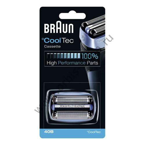 Бритвенный блок к бритвам Braun CoolTec 40B