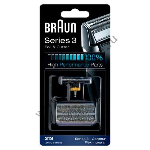 Сетка+режущий блок для бритвы Braun 5000 Series, 31S серебр.